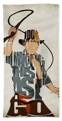 Indiana Jones - Harrison Ford Beach Towel by Ayse Deniz