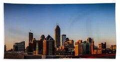 Indianapolis Skyline - South Beach Towel