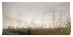 Industrial Skeleton Beach Towel by Dan Stone
