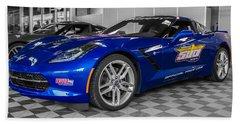 Indy 500 Corvette Pace Car Beach Towel