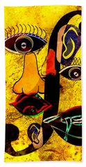 Infected Picasso Beach Towel by Ally  White