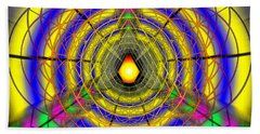 Beach Towel featuring the drawing Infinity Gateway Nine by Derek Gedney