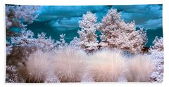 Infrared Bushes Beach Towel