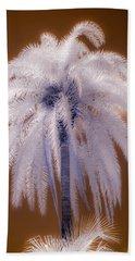 Infrared Palm Tree Beach Towel