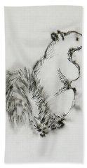 Ink Squirrel Beach Towel