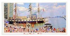 Inner Harbor Baltimore Maryland Beach Sheet