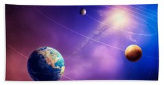 Inner Solar System Planets Beach Towel