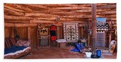 Inside A Navajo Home Beach Towel