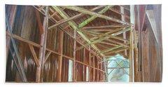 Inside Felton Covered Bridge Beach Towel by LaVonne Hand