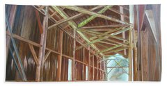 Beach Sheet featuring the painting Inside Felton Covered Bridge by LaVonne Hand