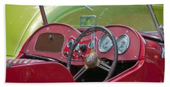 Red Mg-td Convertible  Beach Sheet by Terri Waters
