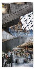 Inside The Louvre Museum In Paris Beach Towel