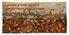 Inspiration - Apiary - Bee's - Sweet Success - Ben Franklin Beach Towel