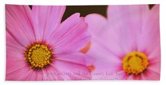 Inspirational Flower 2 Beach Sheet by Eric Liller