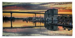 Intercoastal Waterway And The Wharf Beach Towel