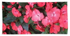 Beach Towel featuring the photograph Interior Decorations Butterfly Garden Flowers Romantic At Las Vegas by Navin Joshi