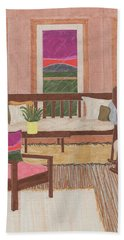 Beach Towel featuring the drawing Interior Design by Jason Girard