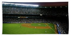 Interiors Of A Stadium, Yankee Stadium Beach Towel