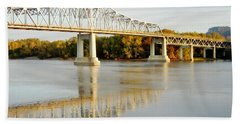 Interstate Bridge In Winona Beach Towel