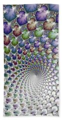 Into The Vortex Colorful Fractal Art Beach Sheet