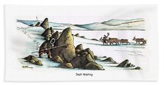 Inuit Waiting Beach Towel