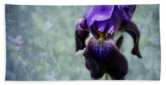 Iris - Purple And Blue - Flowers Beach Sheet