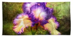 Iris Beauty Beach Towel by Lilia D