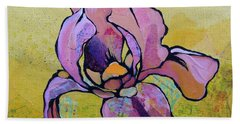 Iris I Beach Towel by Shadia Derbyshire