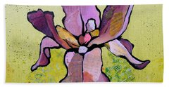 Irises Beach Towels
