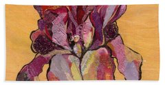 Iris V  - Series V Beach Towel by Shadia Derbyshire