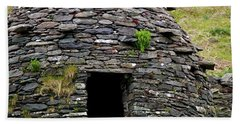 Beach Towel featuring the photograph Irish Beehive House by Patricia Griffin Brett