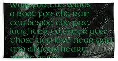 Irish Blessing Stitched In Time Beach Sheet