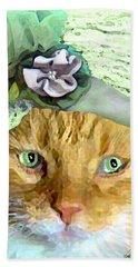 Irish Cat Beach Towel by Michele Avanti