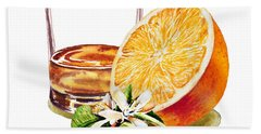 Irish Whiskey And Orange Beach Towel by Irina Sztukowski