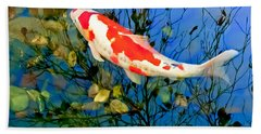 Koi Beach Towel