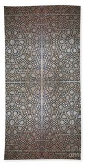 Islamic Wooden Texture Beach Towel by Antony McAulay