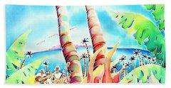 Island Of Music Beach Towel