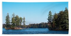 Island On The Fulton Chain Of Lakes Beach Sheet by David Patterson