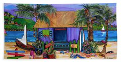 Beach Towel featuring the painting Island Time by Patti Schermerhorn