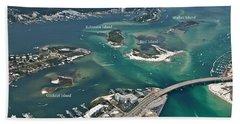 Islands Of Perdido - Labeled Beach Towel