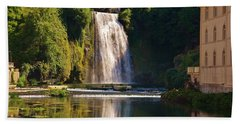 Isola Del Liri Falls Beach Towel