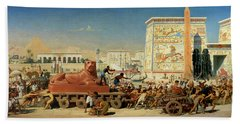 Israel In Egypt, 1867 Beach Towel