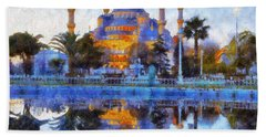 Istanbul Blue Mosque  Beach Towel by Lilia D