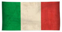 Italy Flag Vintage Distressed Finish Beach Towel