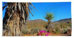 Pink In The Desert Beach Towel