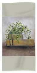 Beach Towel featuring the painting Ivy League by Judith Rhue