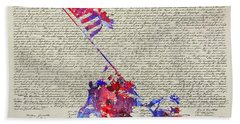 Iwo Jima Declaration Of Freedom Beach Towel