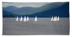 Beach Sheet featuring the photograph J Boats Lake George N Y by John Schneider