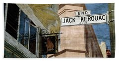 Jack Kerouac Alley And Vesuvio Pub Beach Sheet