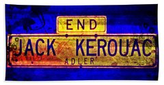 Jack Kerouac Alley Beach Towel